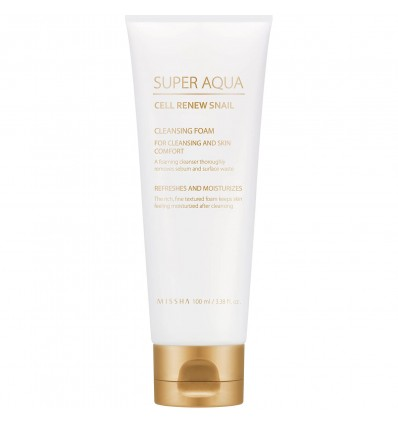Super Aqua Cell Renew Snail Cleansing Foam 100ml