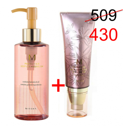 M Signature Real Complete BB cream 45ml+M Perfect Deep cleansing Oil 200ml