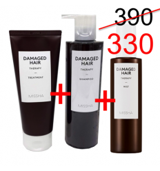 Damaged hair shampoo 400ml +Treatmet 200ml+mist 200ml