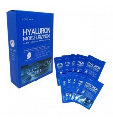 SOME BY MI HYALURON MOISTURIZING GLOW LUMINOUS AMPOULE MASK 10pcs