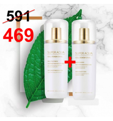 Super Aqua Cell Renew Snail Moisturizer 130ml + Treatment 130ml